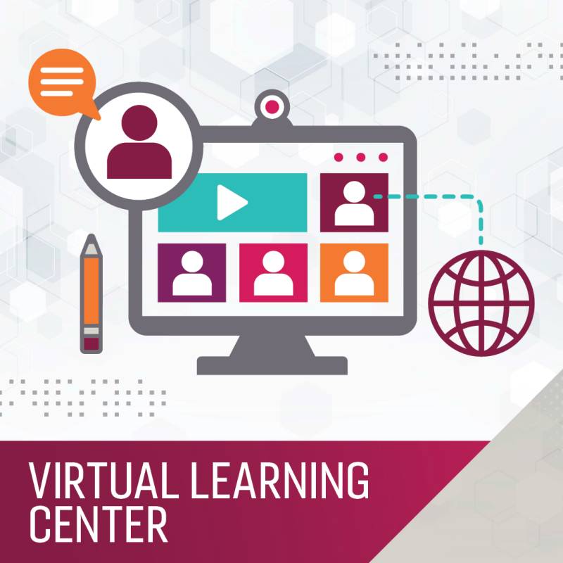 Image of computer linking to the web representing the Virtual Learning Center - search courses.
